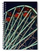 Ferris Wheel After Dark Spiral Notebook