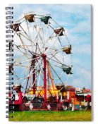 Ferris Wheel Against Blue Sky Spiral Notebook