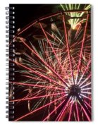 Ferris Wheel And Fireworks Spiral Notebook