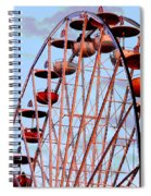 Ferris Wheel At Sunset Spiral Notebook