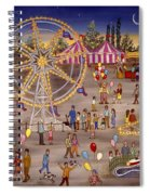 Ferris Wheel At The Carnival Spiral Notebook