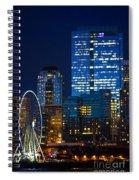 Ferris Wheel Seattle Harbor Spiral Notebook