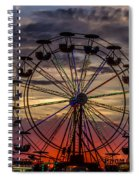 Ferris Wheel Sunset Spiral Notebook