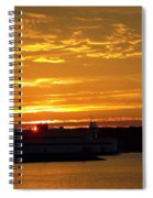 Ferry At Sunset Spiral Notebook