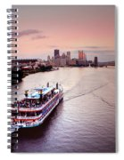 Ferry Boat At The Point In Pittsburgh Pa Spiral Notebook
