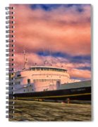 Ferry Dockside At Cold Bay Spiral Notebook