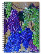 Festival Of Grapes Spiral Notebook