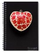 Festive Heart Spiral Notebook