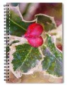 Festive Holly Spiral Notebook
