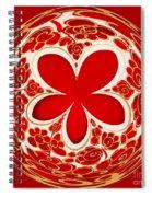 Festive Star Bauble Orb Spiral Notebook