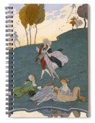 Fetes Galantes Spiral Notebook