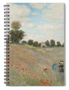 Poppy Field Spiral Notebook