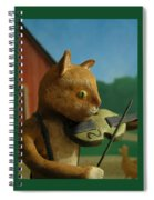 Fiddle Cat 2 Spiral Notebook