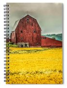 Field And Barn Spiral Notebook