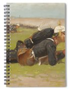Field Drill For The Prussian Infantry  Spiral Notebook