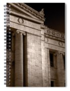 Field Museum Of Chicago Bw Number 2 Spiral Notebook