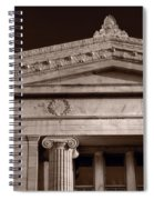 Field Museum Of Chicago Bw Spiral Notebook