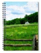 Field Near Weathered Barn Spiral Notebook