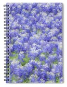 Field Of Bluebonnets Spiral Notebook