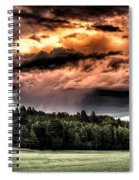 Field Of Dreams From Rain Above  Spiral Notebook