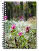 Field Of Flowers On A Rainy Day Spiral Notebook