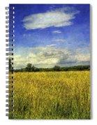 Field Of Gold Spiral Notebook