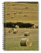 Field Of Hay Bales Spiral Notebook