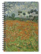 Field Of Poppies, Auvers-sur-oise, 1890 Spiral Notebook