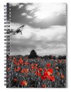 Field Of Red Spiral Notebook