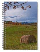 Field Of Round Bales Spiral Notebook