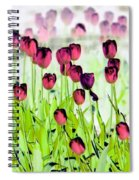 Field Of Tulips - Photopower 1492 Spiral Notebook