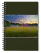 Field Of View Sunset Spiral Notebook