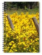 Field Of Yellow Spiral Notebook