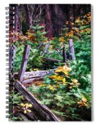 Fields And Fences Of Wawona In Yosemite National Park Spiral Notebook