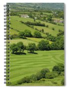 Fields In Northern Ireland Spiral Notebook