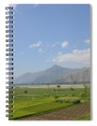 Fields Mountains Sky And A River Swat Valley Pakistan Spiral Notebook