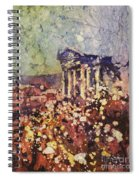 Fields Of Flower- And Roman Temple Spiral Notebook