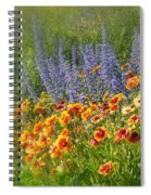 Fields Of Lavender And Orange Blanket Flowers Spiral Notebook