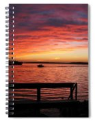 Fiery Afterglow Spiral Notebook