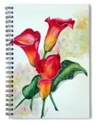 Fiery Callas Spiral Notebook