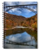 Fiery Colors At New River Gorge Bridge Spiral Notebook
