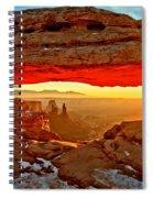 Fiery Morning Spiral Notebook