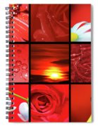 Fiery Red Spiral Notebook
