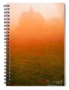 Fiery Sunrise On The Farm Spiral Notebook