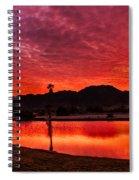 Fiery Sunrise Spiral Notebook