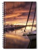 Fiery Sunset At Stuart Marina Spiral Notebook