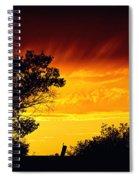 Fiery Sunset Spiral Notebook