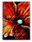 Fiery Violet Expressive Brushstrokes Spiral Notebook