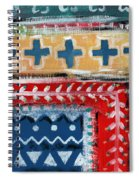 Fiesta 3- Colorful Pattern Painting Spiral Notebook