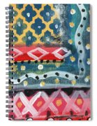 Fiesta 4- Colorful Pattern Painting Spiral Notebook